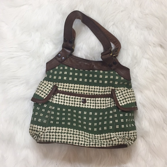 Lucky Brand Vintage Inspired Green Tote Bag